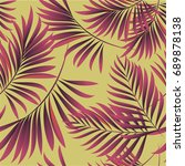 tropical palm leaves  jungle... | Shutterstock .eps vector #689878138