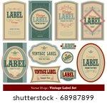 Stock vector vintage label set 68987899
