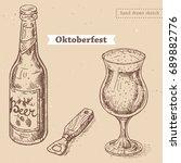 vector linear illustration of... | Shutterstock .eps vector #689882776