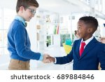 kids as business executives... | Shutterstock . vector #689884846