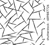 lines chaotic seamless pattern. ... | Shutterstock . vector #689887726
