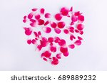 Stock photo pink rose petals 689889232