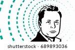 portrait of a man  male... | Shutterstock .eps vector #689893036