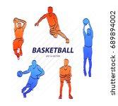 basketball player  sport vector ... | Shutterstock .eps vector #689894002