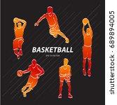 basketball player  sport vector ... | Shutterstock .eps vector #689894005