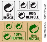 recycle symbol. sign of... | Shutterstock .eps vector #689894962