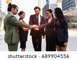 Small photo of Business people teamwork Join Hands Support Together and unify Concept
