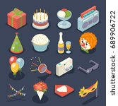 fun birthday party event... | Shutterstock .eps vector #689906722