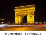 arch of triumph in paris  france | Shutterstock . vector #689908276