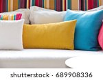 detail image of colorful... | Shutterstock . vector #689908336