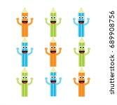 cute pencil. pencil cartoon.... | Shutterstock .eps vector #689908756