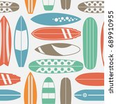 sea surfing pattern with... | Shutterstock . vector #689910955