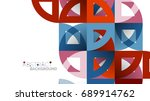 business presentation geometric ... | Shutterstock .eps vector #689914762