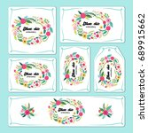 hand drawn floral elements for... | Shutterstock .eps vector #689915662