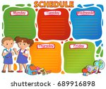school timetable thematic image ... | Shutterstock .eps vector #689916898