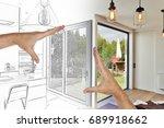 planned  renovation on a modern ...   Shutterstock . vector #689918662
