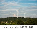 wind turbine for electric power ... | Shutterstock . vector #689921782