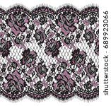 seamless vector pink and black... | Shutterstock .eps vector #689923066