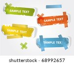 grunge vector stickers for your ... | Shutterstock .eps vector #68992657