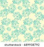 vector floral pattern in... | Shutterstock .eps vector #689938792