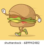 fast food design. running... | Shutterstock .eps vector #689942482