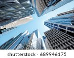 modern skyscrapers shot with... | Shutterstock . vector #689946175