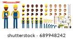 construction worker character... | Shutterstock .eps vector #689948242