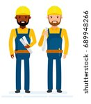 construction workers. isolated... | Shutterstock .eps vector #689948266