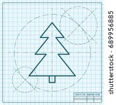 vector christmas icon. new year ... | Shutterstock .eps vector #689956885