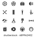 car shop vector icons for web... | Shutterstock .eps vector #689962402