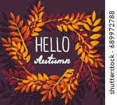september. colorful... | Shutterstock .eps vector #689972788
