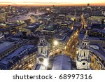 london at twilight view from st.... | Shutterstock . vector #68997316