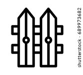 boundary icon | Shutterstock .eps vector #689973682