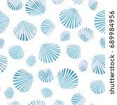 shell pattern  vector ...   Shutterstock .eps vector #689984956