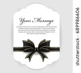 Funeral Card   Black And Gold...