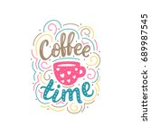 hand drawn lettering with... | Shutterstock .eps vector #689987545