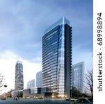 3d business buildings | Shutterstock . vector #68998894