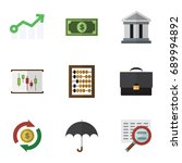 flat icon gain set of portfolio ... | Shutterstock .eps vector #689994892