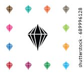 isolated carat icon. gem vector ... | Shutterstock .eps vector #689996128