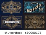 set of templates with banners... | Shutterstock .eps vector #690000178