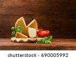 Round Smoked Cheese With...