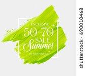 summer sale 50   70  off sign... | Shutterstock .eps vector #690010468