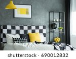 black shelf with citrus  black ... | Shutterstock . vector #690012832
