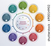 pattern for infographic 10...   Shutterstock .eps vector #690014902