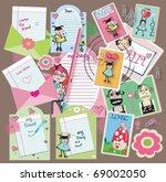 cute scrapbook elements  vector.... | Shutterstock .eps vector #69002050
