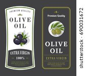 set of labels for olive oils | Shutterstock .eps vector #690031672