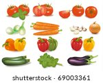 the big colorful collection of... | Shutterstock .eps vector #69003361