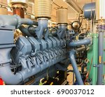 emergency diesel generator for... | Shutterstock . vector #690037012