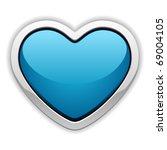 Blue Heart Valentine's Day...