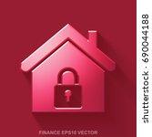 flat metallic finance 3d icon.... | Shutterstock .eps vector #690044188